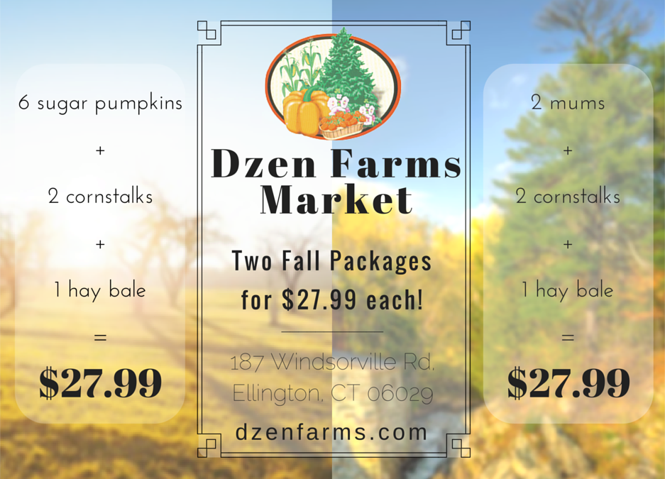 Dzen Farms Offers Package Deal On Fall Decorating Items